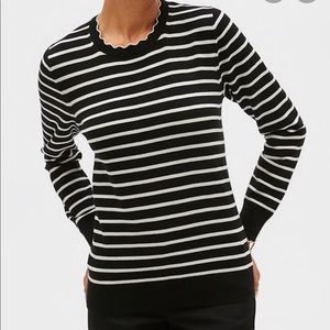 Banana Republic washable forever stripe sweater